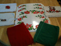 Christmas Placemats and Hand Towels