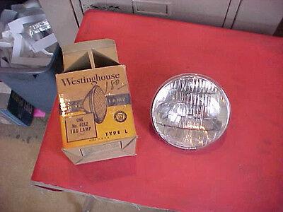 NOS Vintage Westinghouse 4012 Type L fog lamp bulb 6 8 volt 5-1/2 inch CLEAR NEW