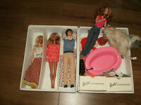 Vintage Barbie Dolls Lot with case and accessories