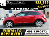 2010 Ford Edge Limited AWD $229 bi-weekly APPLY NOW DRIVE NOW