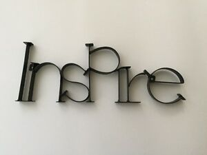 Wrought-Iron INSPIRE sign