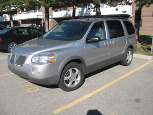 2008 Pontiac Montana extended with 1 year warranty.