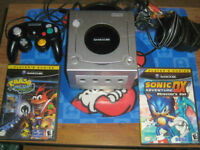 Gamecube(Like New) With 3 Games/Cleaned/Tested/Old Skool Gamers