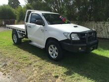2011 Toyota Hilux KUN26R MY10 UPGRADE SR (4x4) White 4 Speed Automatic Cab Chassis Penrith Penrith Area Preview