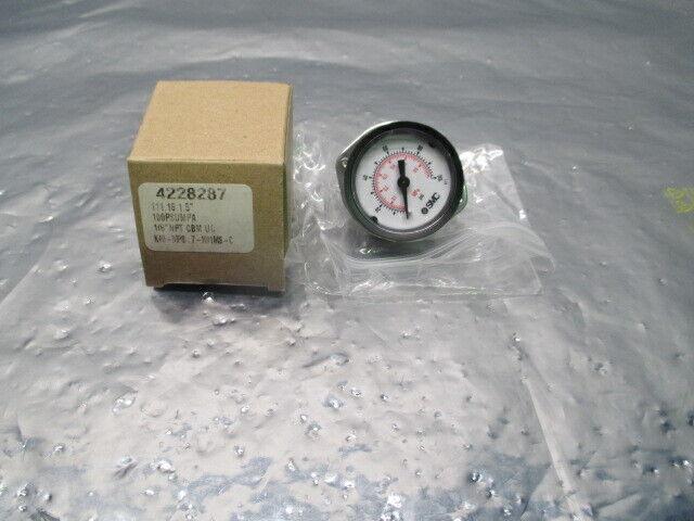 "SMC 4228287 Pressure Gauge, 111.16, 1.5"", 100 PSI/MPA, 1/8"" NPT, 100605"
