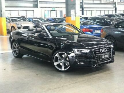 2017 Audi A5 8T Cabriolet 2dr multitronic 8sp 1.8T [MY16] Black Constant Variable Cabriolet