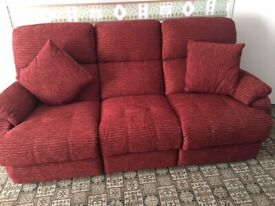 3 seater recliner sofa - Excellent condition