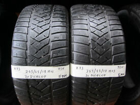 K73 2X 245/45/17 95H DUNLOP SP WINTER SPORT M2 2X5MM TREAD