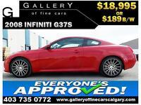 2008 Infiniti G37S $189 bi-weekly APPLY NOW DRIVE NOW