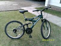 Huffy full suspension bike
