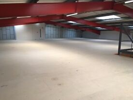 5500 Sqft of (Industrial) open plan warehouse space to let from April