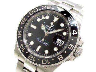 Auth ROLEX GMT Master2 116710LN Black 679343Y3 Men