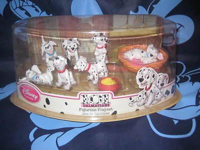 Disney Store 101 Dalmatians Figurine Play Set  7 Pieces Brand New