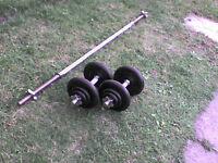 83 lb 38 kg Metal Dumbbell & Barbell Weights
