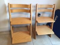 Stokke Tripp Trapp Chair x2 for £100 (or £60 for 1)