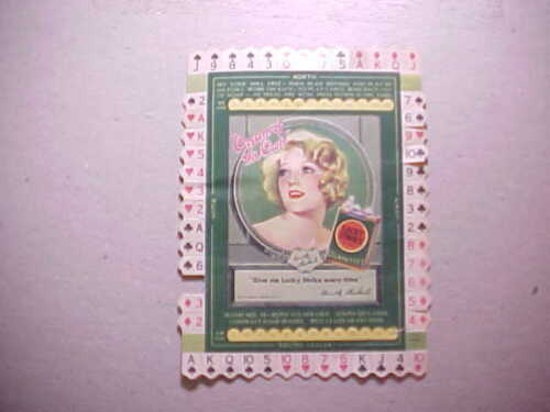 1920s LUCKY STRIKE CIGARETTES CARD GAME WITH SILENT MOVIE STAR DOROTHY MACKAILL