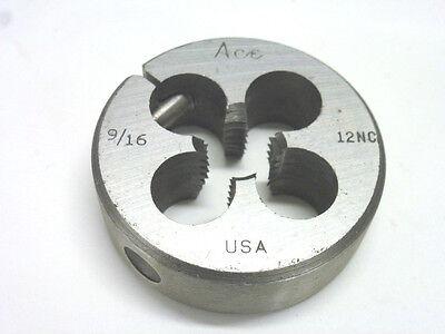 Nos Hanson Ace 916-12nc Round Adjustable Threading Die 2 Od