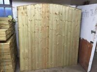 🌟First Rate Quality Heavy Duty Bow Top Fence Panels
