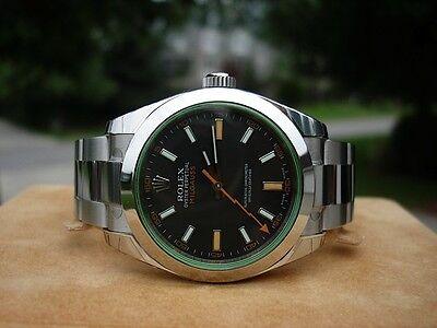 Rolex Milgauss 116400V Green Crystal Never Worn!!! ~WOW~
