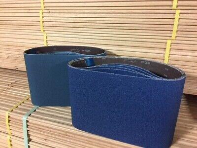 Blue Zirconia 8 X 29.5 100 Grit Floor Sanding Belts - Hummel Lagler Box Of 10