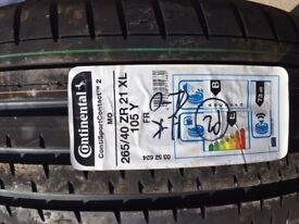 Continental Tyre 265/40 ZR 21 XL (105Y) - Brand new