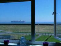 For exchange ,Essex Coast right on Seafront, stunning 1 bed with Proper sea views