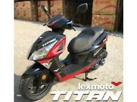 Brand New 2020 Lexmoto Titan 125cc EFI Scooter, Free £100 helmet