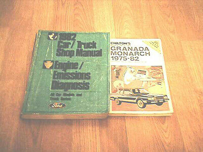 1982 Ford Car/Truck Shop Manual Engine/Emissions Diagnosis 2 for 1 Free S&H