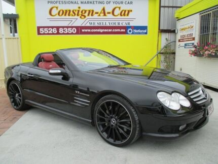 2004 Mercedes-Benz SL55 R230 MY2003 AMG Black 5 Speed Sports Automatic Roadster