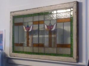 Antique Stained Glass Window Original Condition