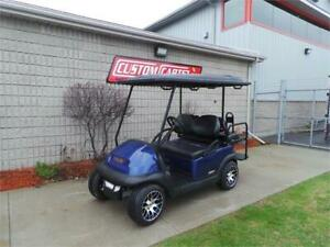 2013 Club Car Metallic Blue Upgraded Electric Golf Cart