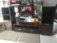Skyline Entertainment Centre TV stand & 2 towers. Open to offers
