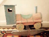 Vintage wooden train rocker
