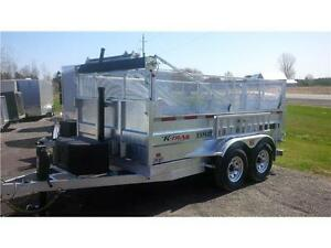 2018 K-Trail   7' X 12'   15400LBS  GALVANIZED   HD Dump Trailer
