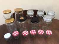 4 storage jars and 11 Jam Jars. Collect from Fulham
