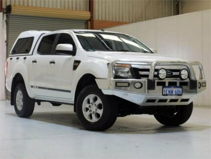 2014 Ford Ranger PX XLS Double Cab White 6 Speed Manual Utility Bibra Lake Cockburn Area Preview