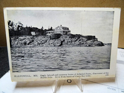 1910 Postcard Eagle Island Summer Home Of Admiral Perry Harpswell Maine for sale  Shipping to Canada