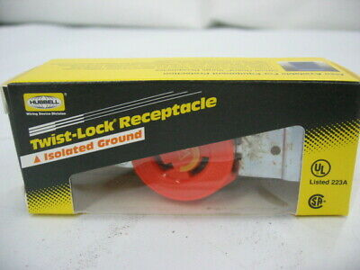 Hubbell Twist-lock Electrical Receptaclesocketoutlet 15a 125v L5-15r New
