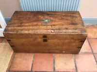 camphor wood chest, in good condition, needing new accessories