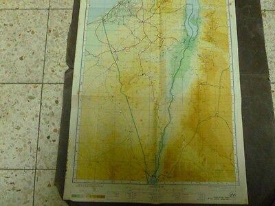 Delek Company Raod Map 95 40Cm 1961 Israel