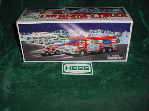 GRADUATION DAY GIFT   2005 HESS RED EMERGENCY TRUCK & RESCUE VEHICLE TOYS TRUCKS