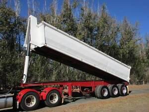 SEMI TIPPER TRIAXLE TRAILER GP WITH WIND BACK TARP Pickering Brook Kalamunda Area Preview