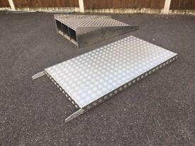 Access/Wheel Chair Ramp and Bridge/Platform Aluminium Checker Plate Very Sturdy