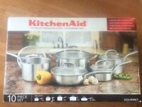 KitchenAid Gourmet Stainless Steel Cookware set  (BNIB)