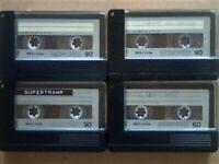 JL £8 & FREE P&P. 4x MEMOREX MRX2 60 90 CASSETTE TAPES. 1974-1975. BATCH 1/4. JOB LOT OR SOLO SALES.