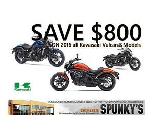 All 2016 Kawasaki Vulcan S on Clearance Save $800