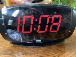 DreamSky LED Alarm Clock with FM Radio USB Port for Charging Sleep Timer EarJack