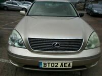 LEXUS LS 430 AUTOMATIC LEATHER ALLOYS 12 MONTHS MOT AUTOMATIC