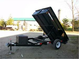 10 foot single axle dump trailer Kitchener / Waterloo Kitchener Area image 1
