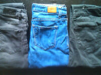 3 pairs of ladies elastic trousers size 26-32